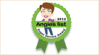 Angiest List - Super Service Award, 2012