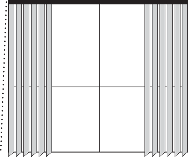 Split Draw Blinds